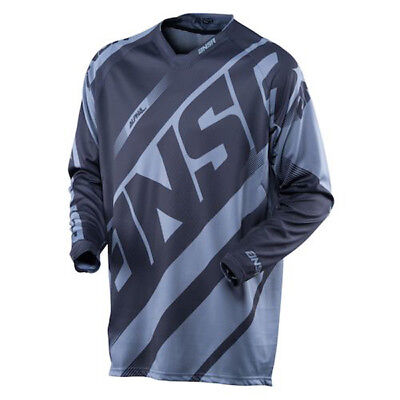 New Answer ANSR Racing Alpha Jersey Black Grey Small Adult A16 Closeout MX Gear