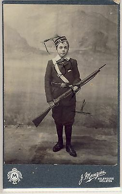 Cabinet Photo Of Lad In Boys Brigade Uniform By J Menzies Holehouse Neilson