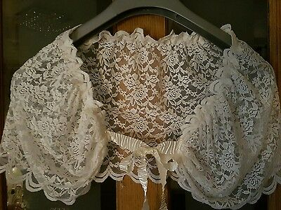 Ivory Bridal Lace Cover up/capelet
