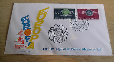 Luxembourg 1960 EUROPA FDC