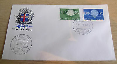 Iceland 1960 EUROPA FDC