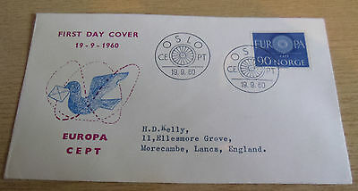 Norway 1960 EUROPA FDC