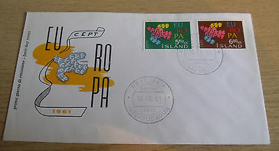 Iceland 1961 EUROPA FDC