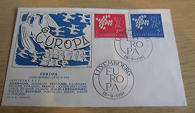 Luxembourg 1961 EUROPA FDC