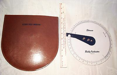 Vintage Stevens Rally Indicator Model 25 With Leather Case Nice Condition