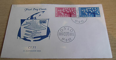 Norway 1962 EUROPA FDC