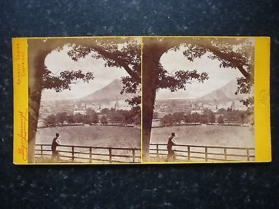 # Stereoview Image By Payne Jennings A Of Man Viewing Keswick From Castle Hill