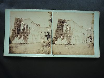 Stereoview Nice Early Image Abbey Ruins Church Ruins ?