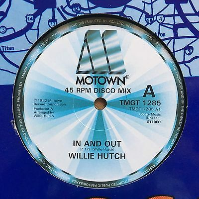 """Willie Hutch In And Out UK 1982 12"""" Motown Recs"""