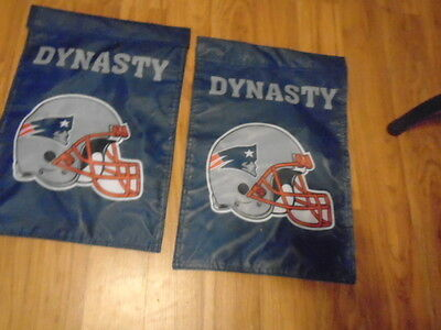 "New England Patriots ""dynasty"" Garden Flag 12 X 18 Inches New Free Shipping"