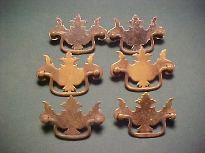Six Brass Plated Chippendale Style Furniture Drawer Pulls