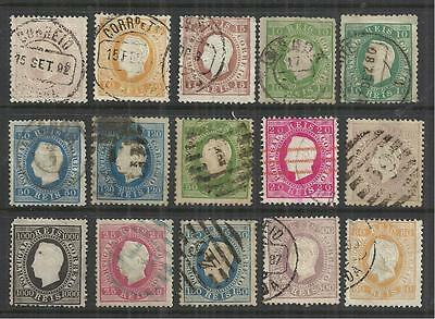 (W47) Portugal – 1870-84 Straight Labels Used Selection