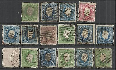 (W51) Portugal – 1870-84 Straight Labels SECONDS Used Selection