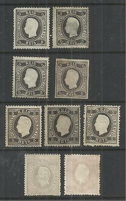 (W54) Portugal – 1866-84 Unused & Mint Selection
