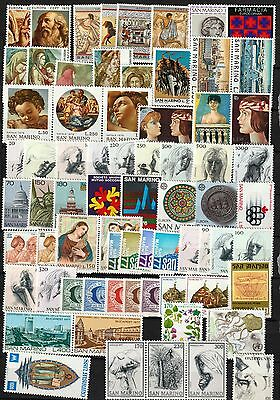 San Marino 1975- 1977, year sets MNH 1975 complete, 1976  1 missing, 1 MH, 1977c