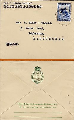 "PERU : PACIFIC STEAM NAVIGATION CO. ""SANTA LUCIA"" COVER TO ENGLAND (1930s)"