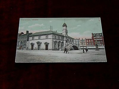 Leicester Corn Exchange Market Place Posted To Halifax 1904/6