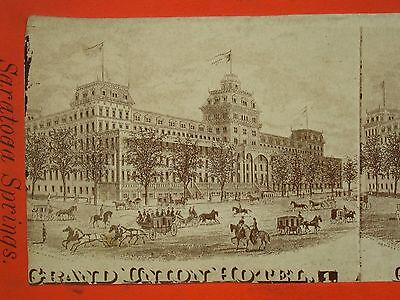 Antique Vintage Saratoga Springs Grand Union Hotel Stereoview Card