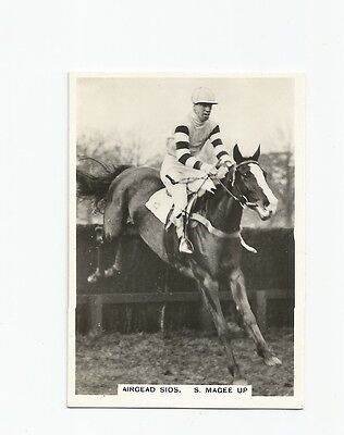ARDATH CARD 1930's TOPICAL INTEREST AIRGEOD SIOS STEEPLECHASER IN ACTION  SUPERB