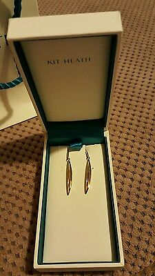 Kit Heath Sterling Silver and 18ct Gold Plate Drop Earrings Brand New in Box