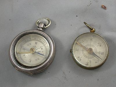 Large Bay State Coin Silver Pocket Watch Case Converted Made in France Compass