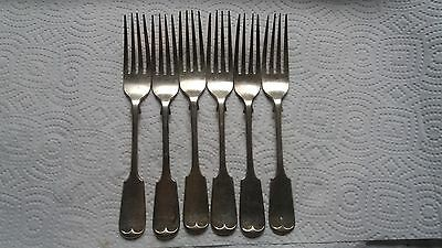 6 x Vintage Mappin and Webb Silver Plate Forks