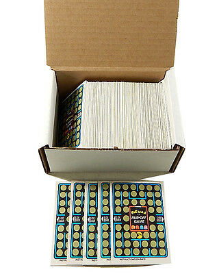 Over (175) 1980 Fleer Pac-Man Rub-Off Game Cards (unscratched)