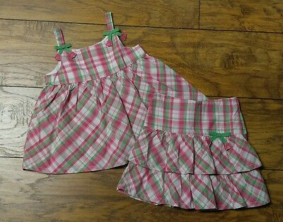 Toddler Girls Plaid Sleeveless Top and Skirt Outfit by GYMBOREE ~~ Size 4T