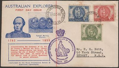 Australia 1946 KGVI Mitchell Centenary Local Illustrated First Day Cover