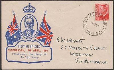 Australia 1950 King George VI 2½d Illustrated First Day Cover SG234