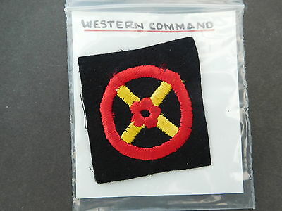 Western Command Shoulder Title Patch