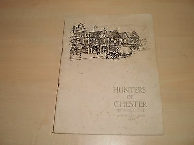 1924 Hunters Of Chester Agricultural Seeds Catalogue Illustrated Softcover Book