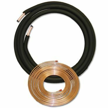 3/8 x 3/4 x 1/2 x 25 ft OD EZ Pull A/C Insulated Copper Lineset USA MADE