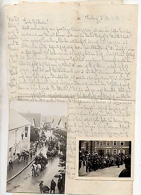 German Ww2 Soldiers Letter+Photos-18 May 1939-Street March-Crowds