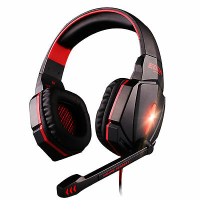 G4000 USB Red Gaming Surround Headset PC Game Headband Headphone with Microphone