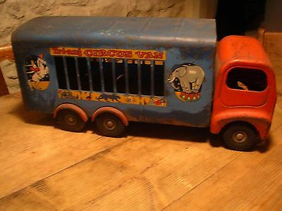 TRIANG tinplate circus van truck lorry 1950's 1960's vintage toy