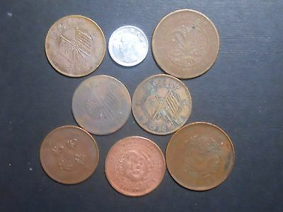 3303 - China - Eight Different Coins Dtd 1906 To 1955