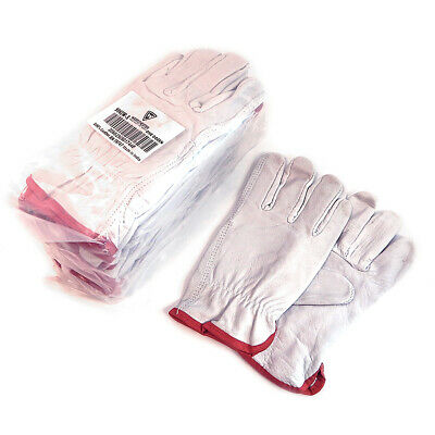 West Chester 12 Pairs Small Grain Leather Driving Gloves Off-White 996IW/S
