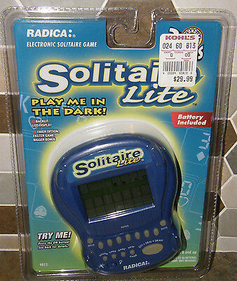 NEW Electronic SOLITAIRE Lite Sealed Package Working Radica Game Handheld NIP