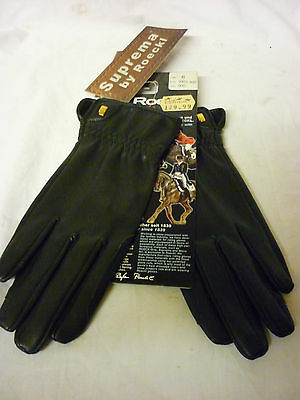 New Gloves Roeckl Suprema  Black Showing Size 6 Ladies Small .