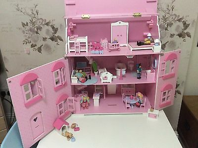 ELC Rosebud Dolls House with furniture and characters