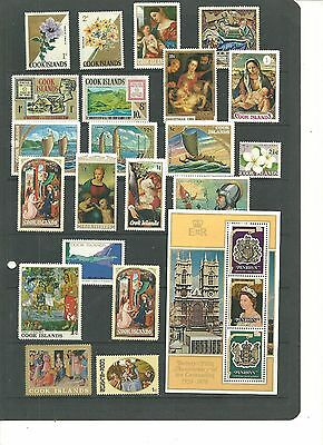 Cook Islands Collection Of Various Selection&sets From Estate Album Mint Nh(1)