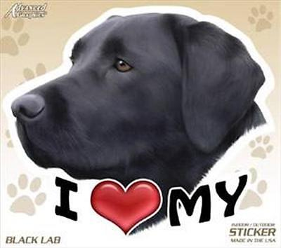 "I Love My Black Lab Dog 4"" Car Home Vinyl Sticker Decal Labrador Retriever Gift"