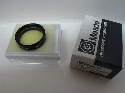 """1.25"""" Meade LT Yellow #8 Telescope Eyepiece Filter Series 4000 Glass Coated New!"""