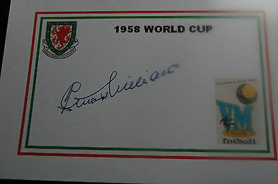 Wales 1958 World Cup Designed Card Signed Stuart Williams