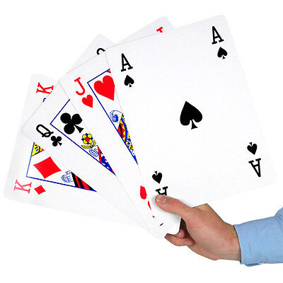 Jumbo A4 Sized Playing Cards - Pack of 52 + 2 Jokers