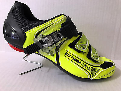 new in box Vittoria Brave men's road cycling shoes Yellow Fluo 41.5 9 26cm Italy