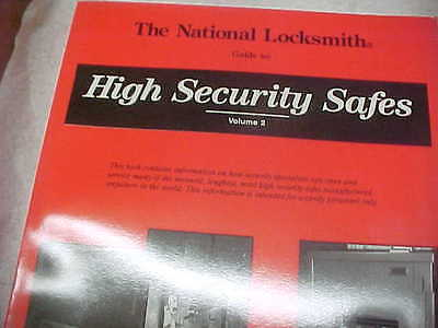 NEW BOOK Vol 2 High Security Safes, by Dave McOmie, Locksmith,Safe tech.student,