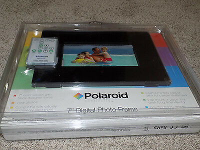 """Polaroid 7"""" Digital Photo Frame with Remote CPA-00711S New Sealed"""