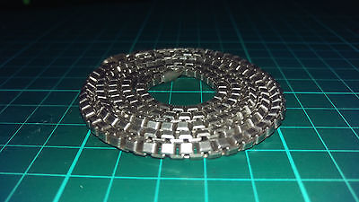 """Mens 925 Sterling Silver 3D Box Chain Necklace 30.5""""  64.1g"""